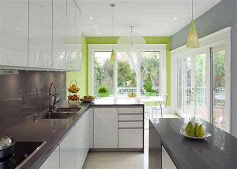 Grey Green Kitchen | modern grey and green kitchen furniture decoist