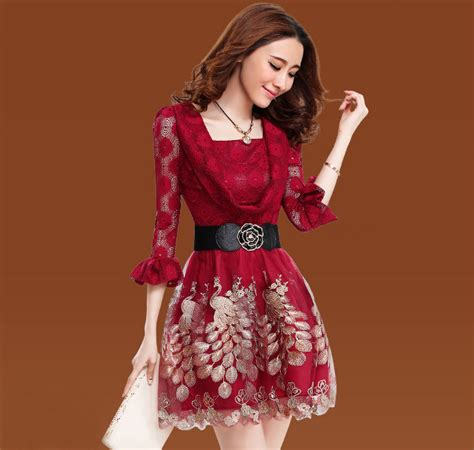 beauty of pattern matching sexy beauty dress floral pattern three quarter sleeve