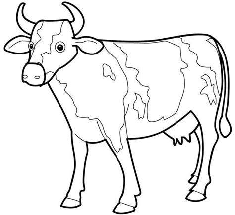 cow 4 coloring page