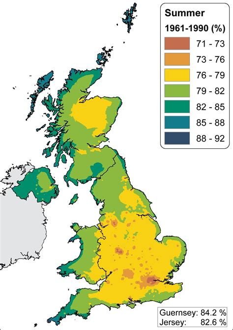House Humidity Levels Uk Observed Trends Relative Humidity Crown Copyright