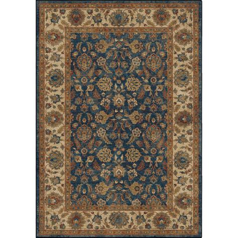 10 X 20 Ft Rug by Orian Rugs Border Entressed Blue 8 Ft X 11 Ft