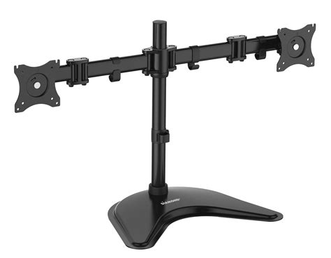 dual monitor desk mount articulating dual arm monitor mount