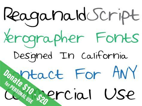 xerographer dafont reaganald script font dafont com