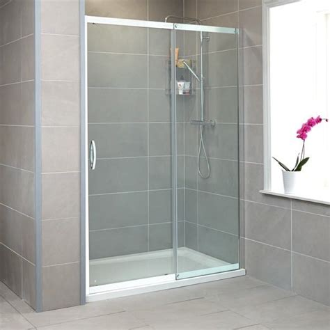 Glass Shower Door Thickness Aquafloe 8mm Thick Glass Sliding Shower Door Adjustable Between 1060mm And 1090mm And