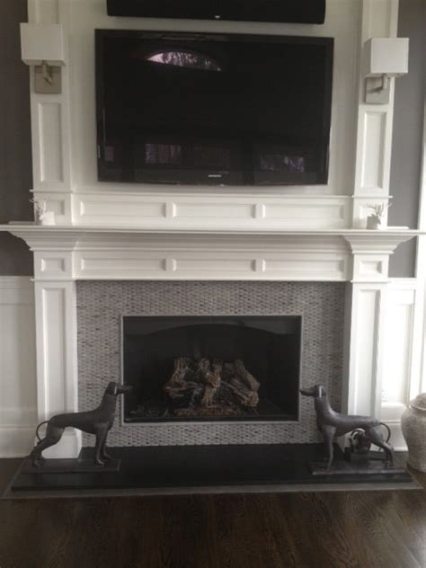 fireplace wall contemporary new york by portico tile