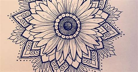 love this daisy sunflower mandala ideas para el hogar