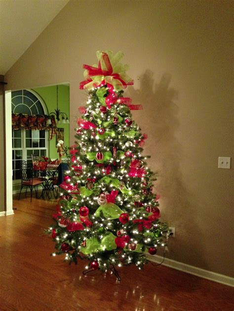 deco mesh christmas tree topper pretty make a bow and