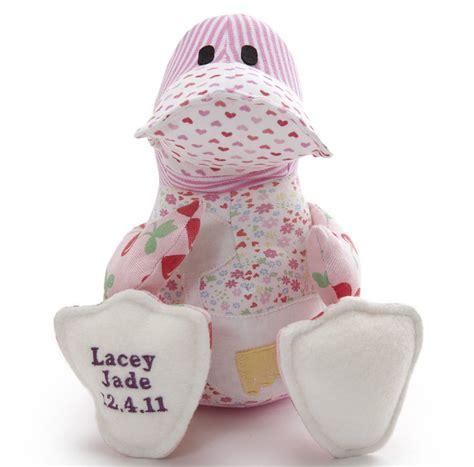 personalised baby clothes keepsake duck by lovekeepcreate