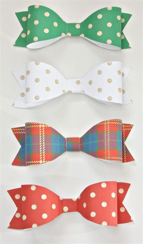 Paper Bows - free printables gift tags wrap paper and bows
