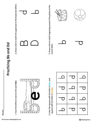 B And D Worksheets by Early Childhood Letters Worksheets Myteachingstation