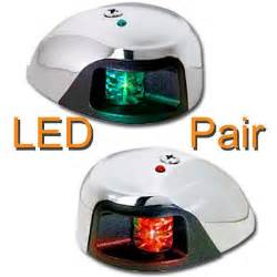 green led navigation lights pontoonstuff