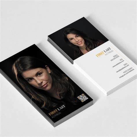 actor business cards template actor website tips don t forget to put your domain