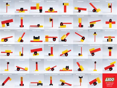 makes of lego it s what you make of it 2 ads of the world