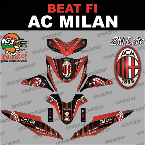 Striping Lis Stiker Variasi Beat Fi 9 jual sticker striping motor stiker honda beat fi ac milan spec b anulator custom