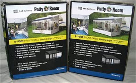 patty o room patty o room screen room panels fiberglass rv