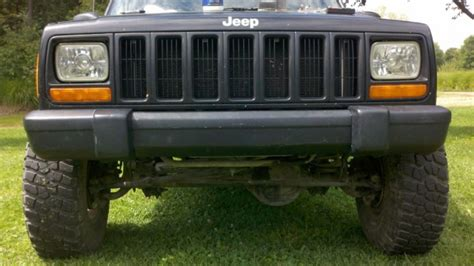 jeep xj stock bumper xj stock front bumper trim and mod jeep cherokee forum