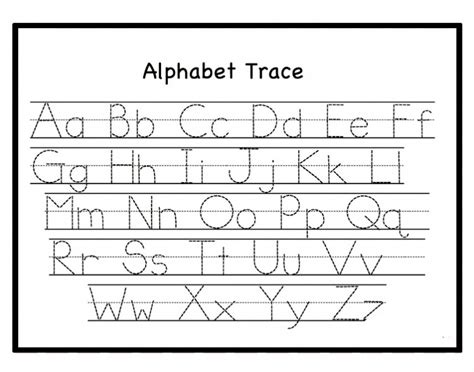 printable alphabet worksheets for kindergarten pdf free letter tracing worksheets pdf printable for toddlers