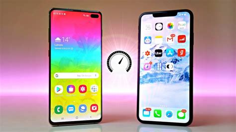 samsung galaxy s10 vs iphone xs max speed test