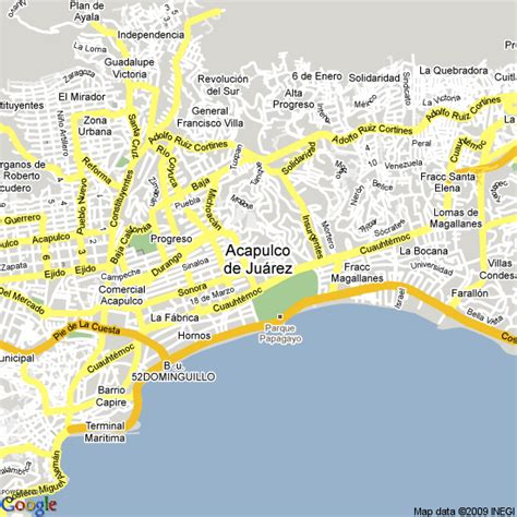 map of mexico acapulco acapulco map my