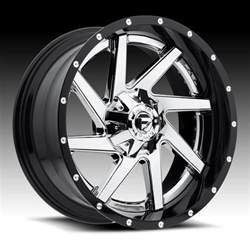Chrome Truck Wheels Fuel D263 Renegade 2 Pc Chrome Gloss Black Custom Truck