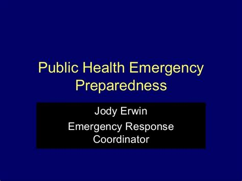 health emergency preparedness
