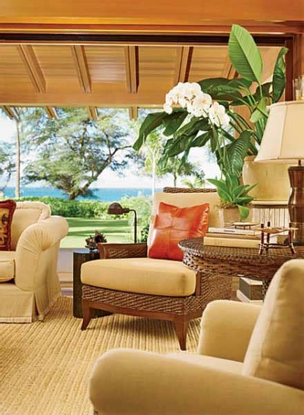 Tropical Theme Decor - hawaiian decor aloha style tropical home decorating ideas
