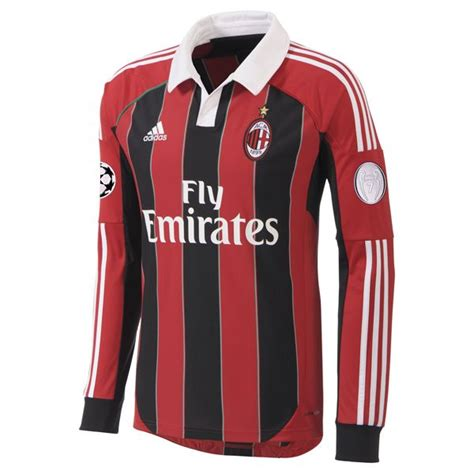 Special Produk Jersey Ac Milan Home Go New Season 2017 18 Grade Ori adidas w38560 ac milan chions league football soccer home l s shirt 2012 13 size large new