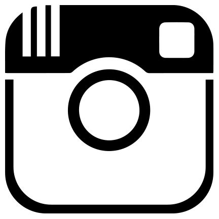 logo instagram hitam putih