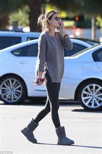 Alessandra Ambrosio nails off duty chic in loose jumper and leggings   Daily Mail Online