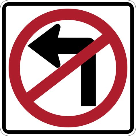 no left no left turn clip at clker vector clip royalty free domain