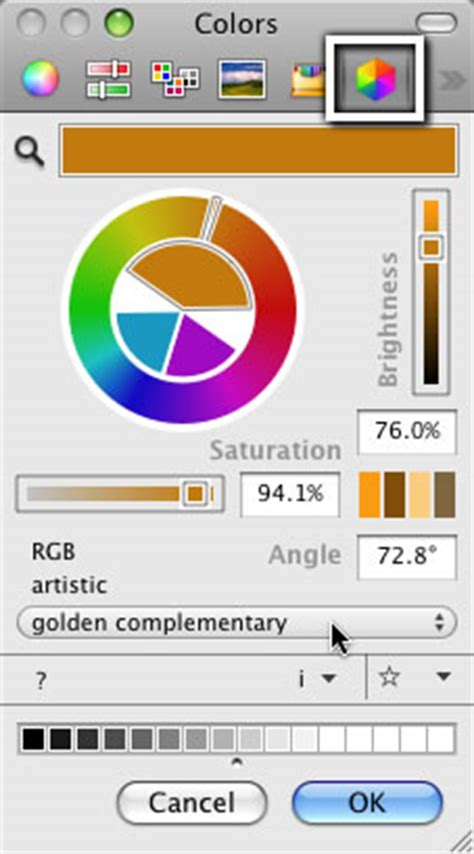os x color picker sling colors in an image with the mac os x color picker