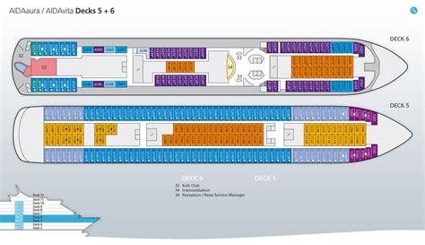 Deckplan Aida by Aidaaura Bewertungen Reiseberichte Bilder