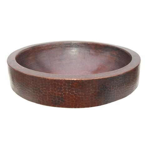 copper vessel sinks bathroom shop eden bath antique dark copper vessel round bathroom