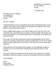 reference letter of recommendation sample writing a letter