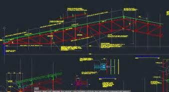 2d Floor Plan Software Free autocad metail roof truss model with details drawing file