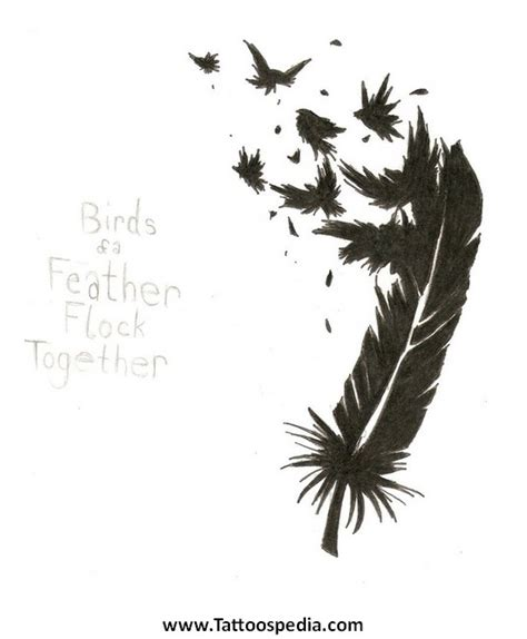 feather tattoo breaking into birds feather breaking into birds tattoo meaning images