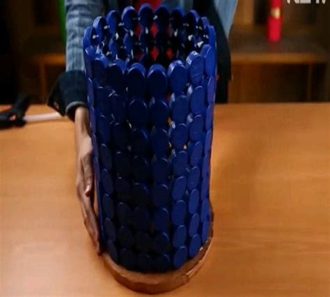 Keranjang Plastik Tutup keranjang tempat sah dari tutup botol plastik bekas zona kreatif