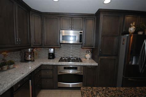 Microwave In Kitchen Island slate with ebony glaze new quay transitional kitchen