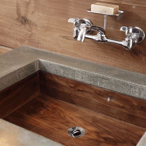 Wooden Kitchen Sink by Wooden Sink Why Not 100kgarages100kgarages