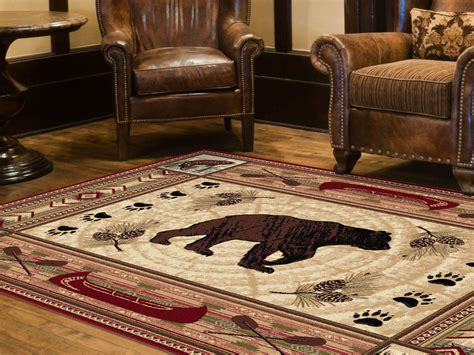 nature themed area rugs tayse rugs 5 3 x 7 3 nature black lodge area rug home home decor rugs area