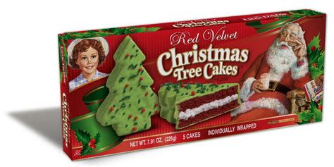 red velvet christmas tree cakes little debbie