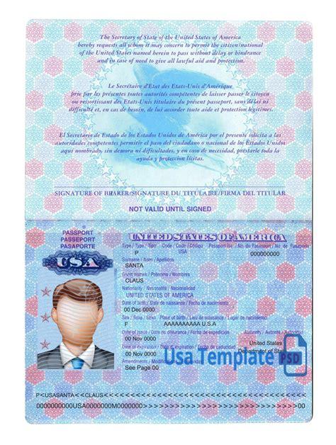 passport card template psd us passport template psd images template design ideas