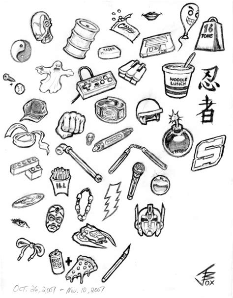 item doodle draw how to draw random things