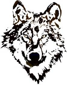 wolf clip art and graphics for t shirt decal logo design