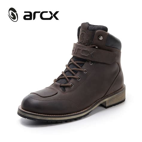 boots moto arcx motorcycle boots mens leather boots waterproof