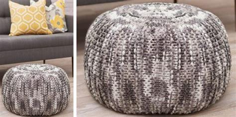 knitting pattern pouf lovely pizazz knitted floor pouf free knitting pattern