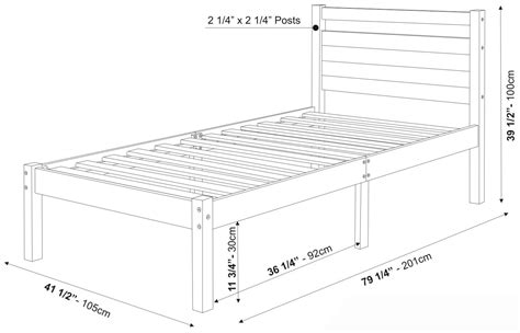 twin bed measurements bronx bed by palace imports