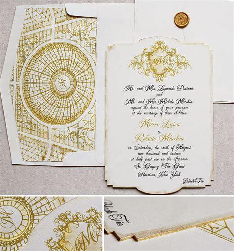 custom foil sted wedding invitations p gold foil monogram wedding invitationsmomental designs