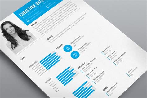 in design layout ideas clean resume template stockindesign