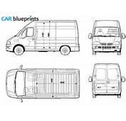 CAR Blueprints  Fiat Ducato MWB Vector Drawings Clipart
